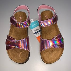 Joules Pink Strap Sandals